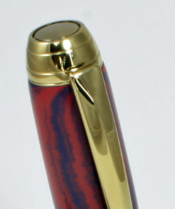 Vulpen - Ebonite ( Blauw - Rood) - Titanium Gold plating - Brushed Gold accent-527