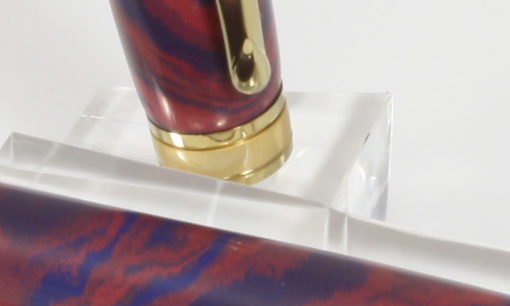 Vulpen - Ebonite ( Blauw - Rood) - Titanium Gold plating - Brushed Gold accent-529