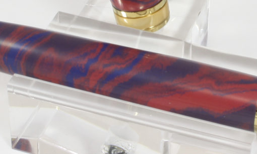 Vulpen - Ebonite ( Blauw - Rood) - Titanium Gold plating - Brushed Gold accent-526