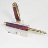 Vulpen - Ebonite ( Blauw - Rood) - Titanium Gold plating - Brushed Gold accent-0