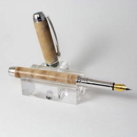 Vulpen - Quileted Maple - Rhodium Plating - Black Titanium accent-0