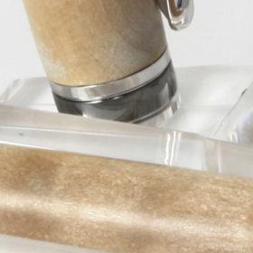 Vulpen - Quileted Maple - Rhodium Plating - Black Titanium accent-13939
