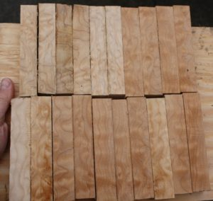 quilted maple blokjes