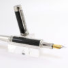 "Vulpen ""Romano"" met Rhodium plating with Black Titanium Accents.-0"